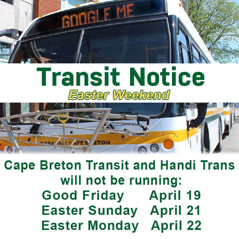 Holiday Transit notice