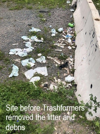 Before Trashformers cleaned up site July 17