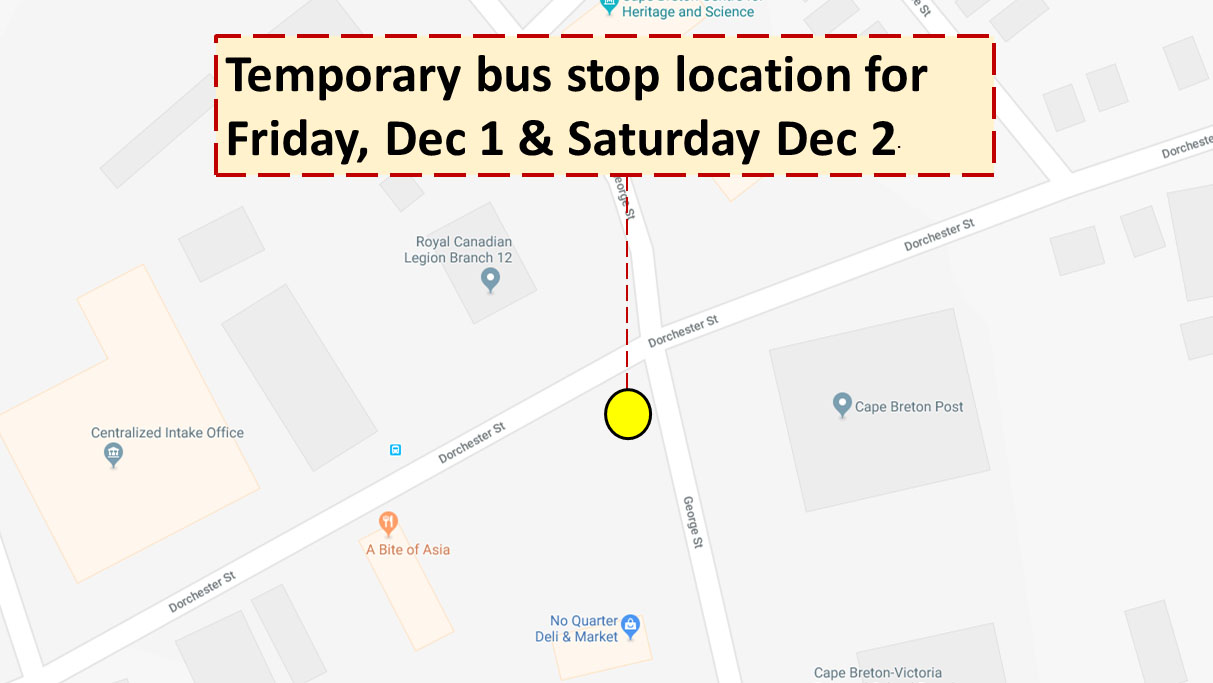 temporary stop location dec 12